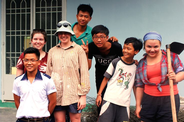We are friends #VietnamSchoolTours #farming #students #localkids