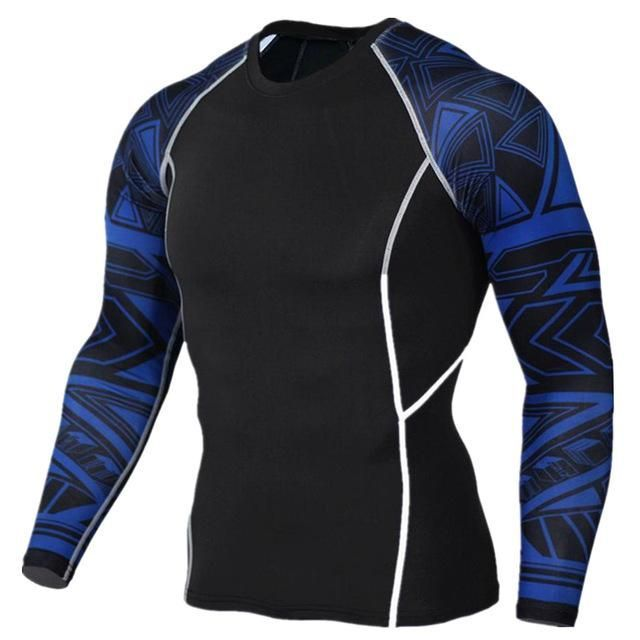 2016 Mens MMA Fitness T Shirts Fashion 3D Teen Wolf Long Sleeve Palace Compression Shirt Bodybuilding Crossfit Brand Clothing