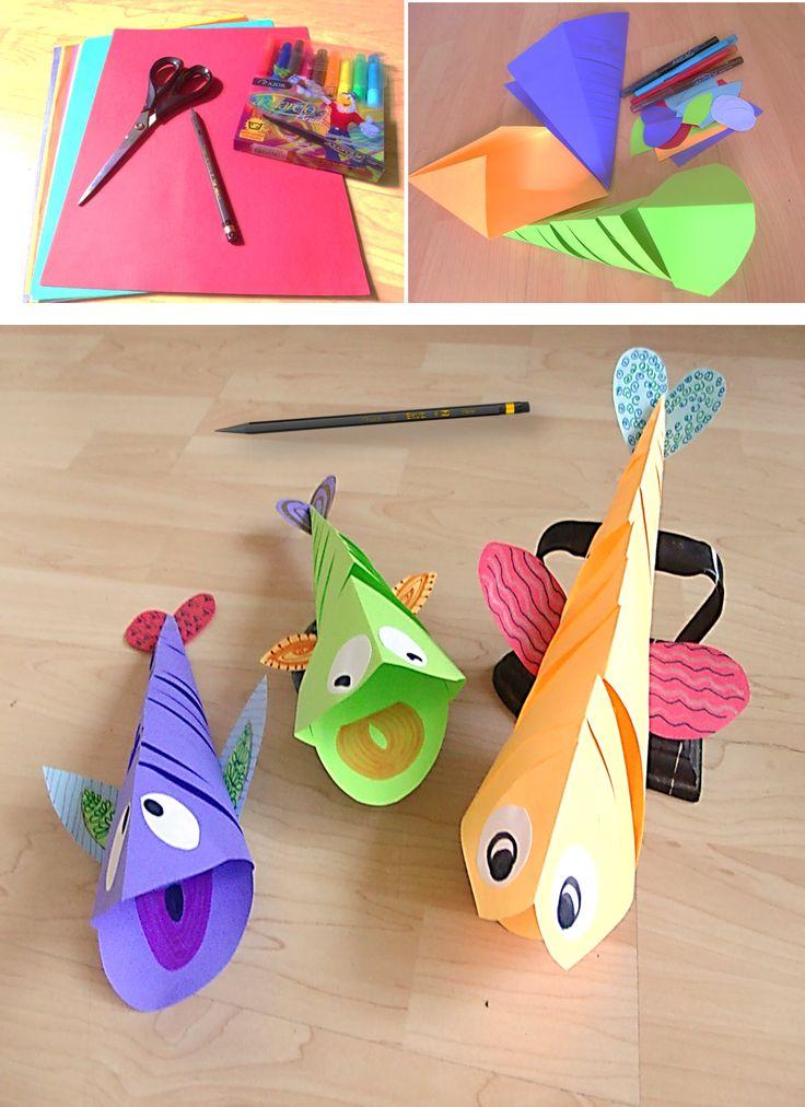 Peces para decorar su cuarto. #papel #origami