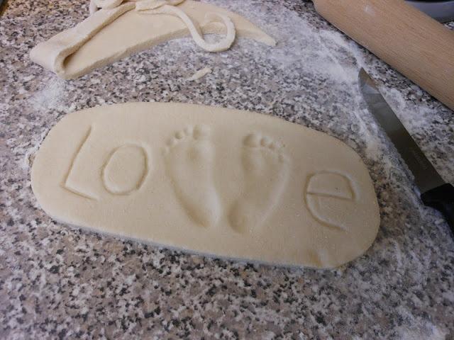 Salt Dough Hand and Footprint Keepsakes