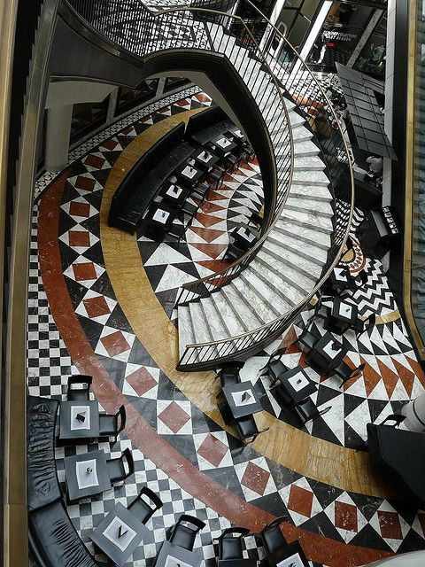 Art Deco mosaic gallery Berlin 1.....original art deco shopping center in (former Eastern) Berlin  by peterpeers - home alone, via Flickr