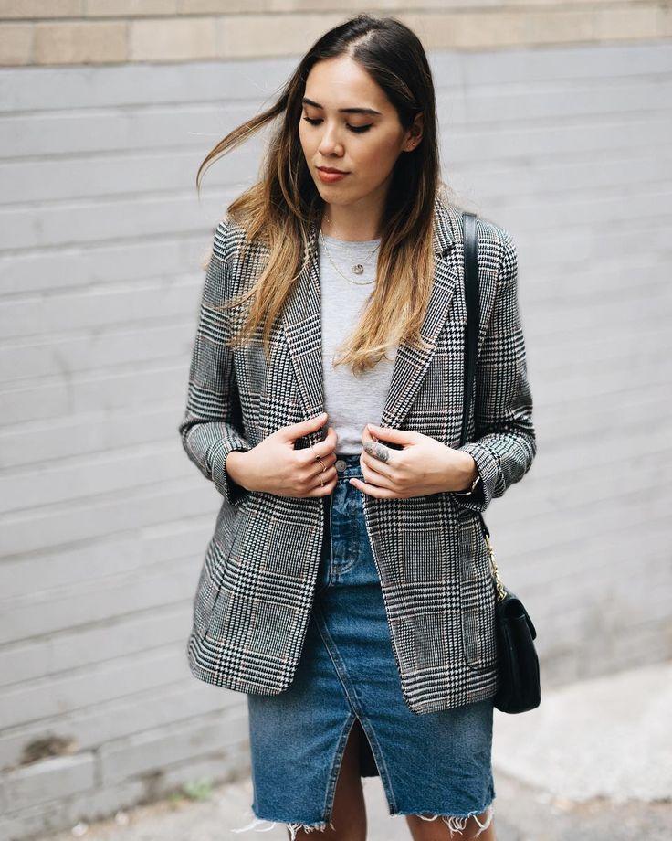Isabella Hung | Sydney Blogger @digyhu | H&M Plaid Blazer
