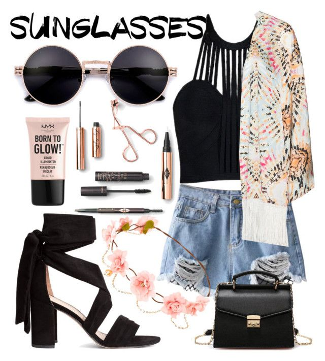 sunglasses by natalka-safranekova on Polyvore featuring polyvore fashion style Mat NYX clothing
