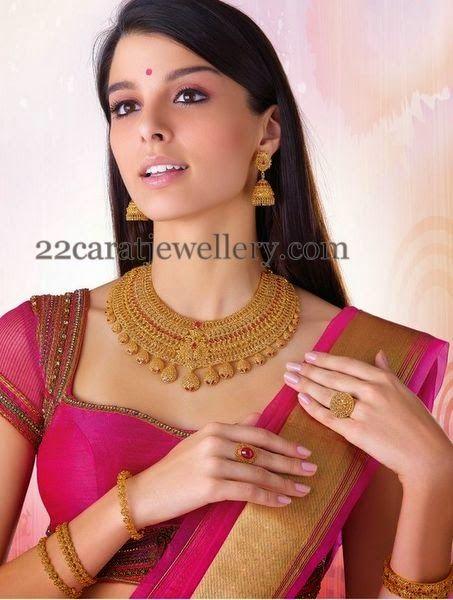 Jewellery Designs: Spectacular Uncut Necklace by Josco