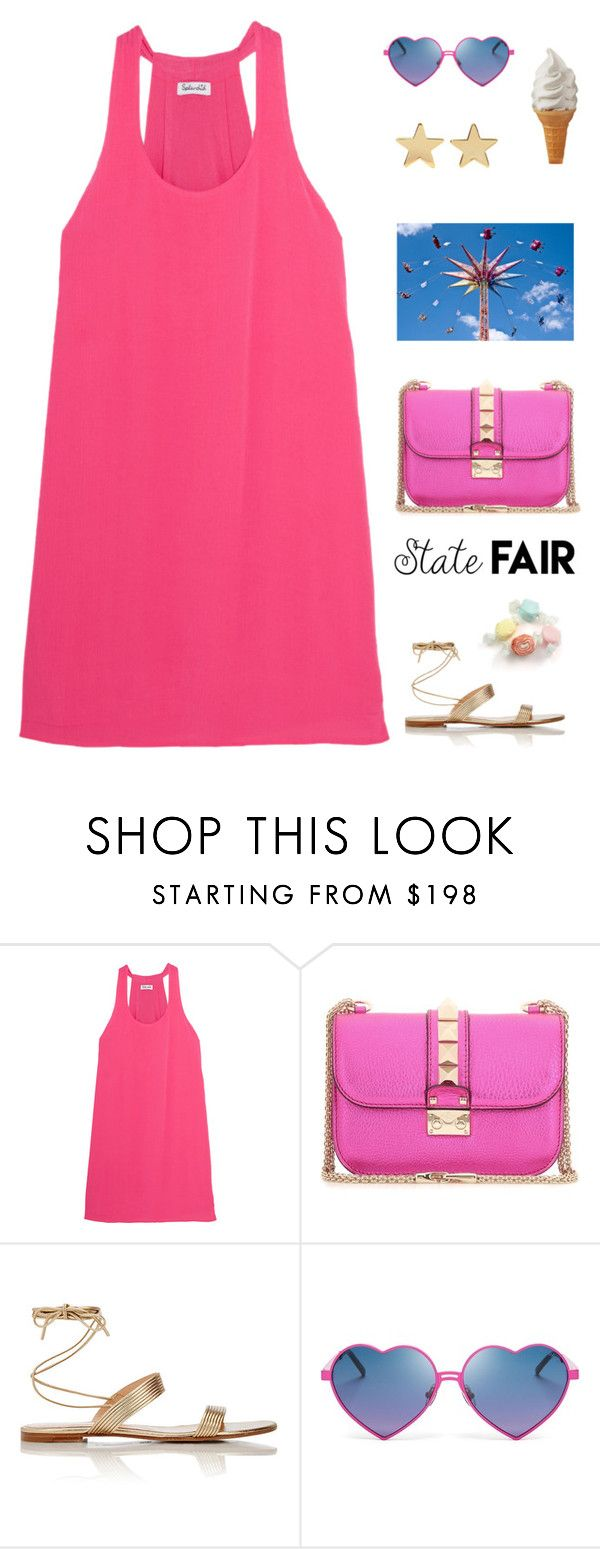 """""""State Fair Outfit"""" by anetacerna ❤ liked on Polyvore featuring Splendid, Valentino, Gianvito Rossi, Wildfox, Jennifer Meyer Jewelry, Salt Water Sandals, statefair and summerdate"""