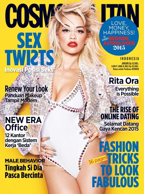 Two days to 2015 and Rita Ora is looking white-hot on the cover of our January 2015 issue. Inside, the British singer opens up about body image, sexuality, and her breakup with DJ/producer Calvin Harris on our January 2015 issue. GRAB IT FAST! #CosmoIndonesia