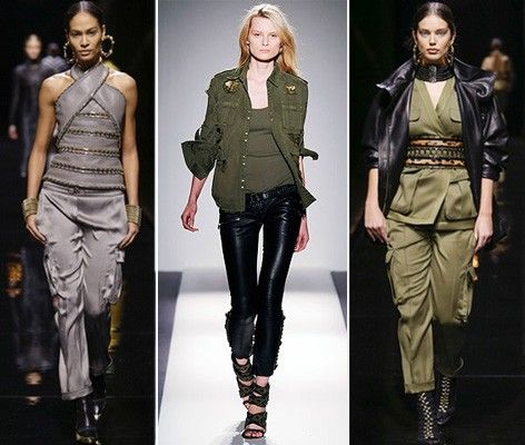 Женская одежда в стиле милитари, фото