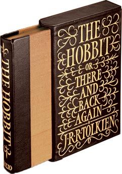 The Hobbit - currently reading this. my books cover is not this awesome however
