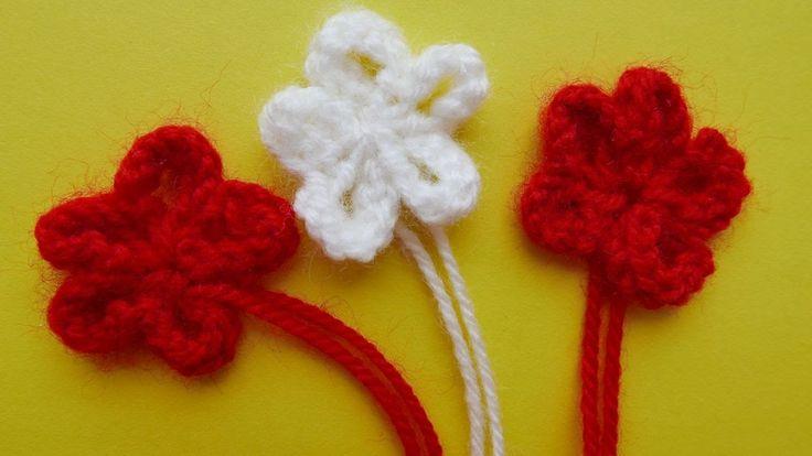 Как вязать спицами простые цветы