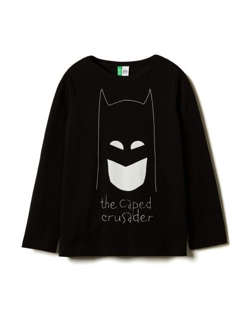 Shop Long sleeve t-shirt with superheroes Black for TOPS at the official United Colors of Benetton online shop.