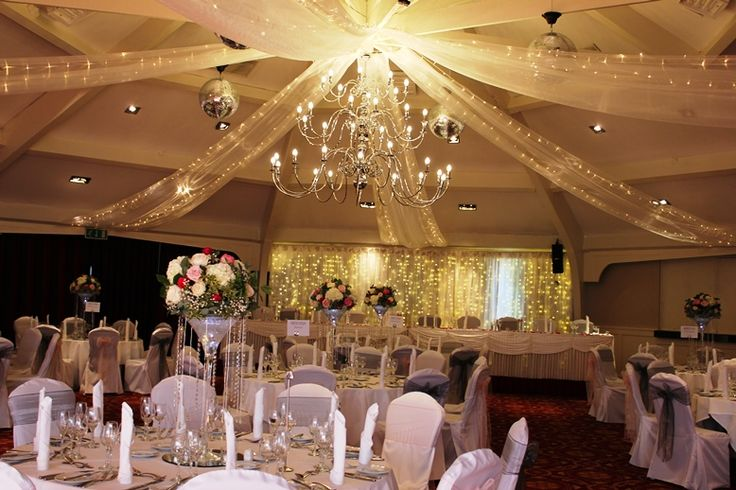 Airth Castle White Organza Ceiling Swags With Fairy