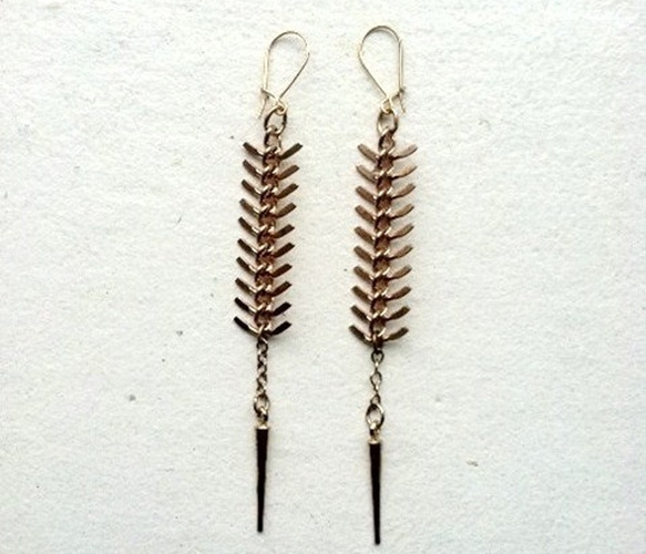 spine: Fishbone Earrings I, Accessories Piercings, Chain Earrings, Fishbone Earrings L, Jewelry Accessories, Jewelry Thingys, Pretty Stuff