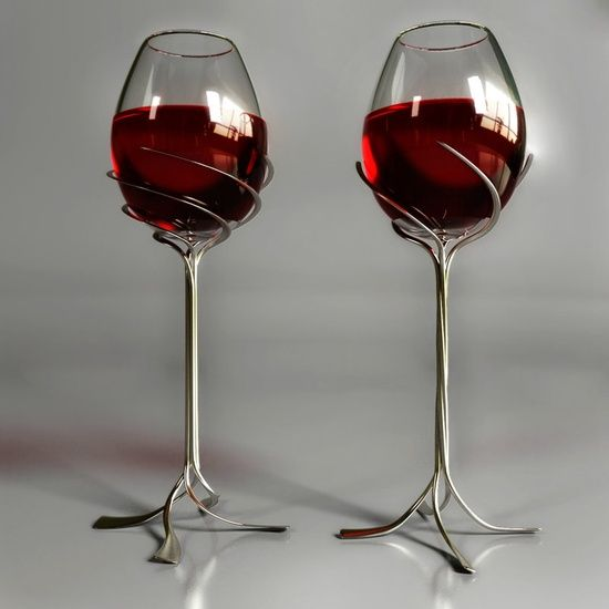 230 best images about goblets and stemware on pinterest - Funky champagne flutes ...