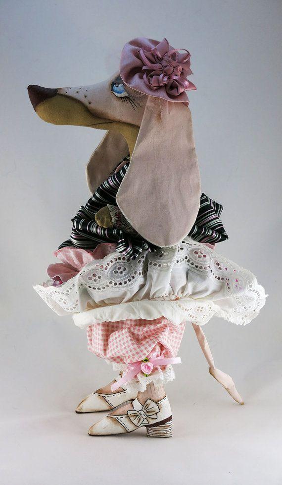 Dachshund doll 161Interior dollOOAK art dolldog от ToysCarousel