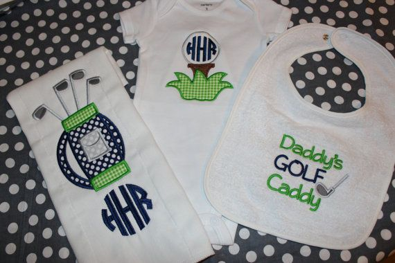 Golf baby gift boy or girl by stephstowell on Etsy, $21.00