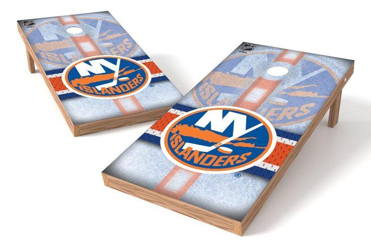 New York Islanders Cornhole Board Set - Wild (w/Bluetooth Speakers)