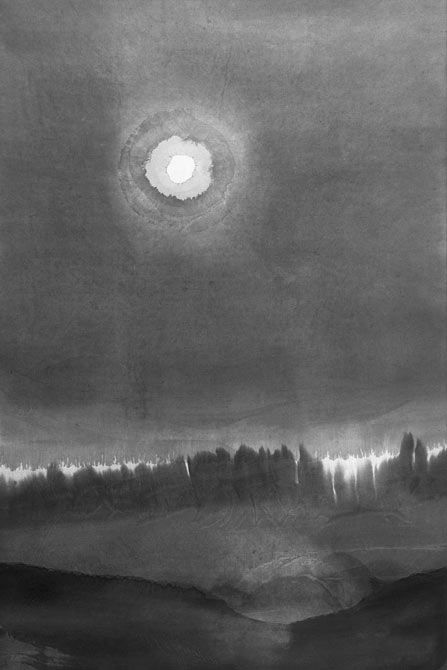 """Gao Xingjian (Guanzou, b. 1940) - """"Silent night"""", 2008 - Ink on paper"""