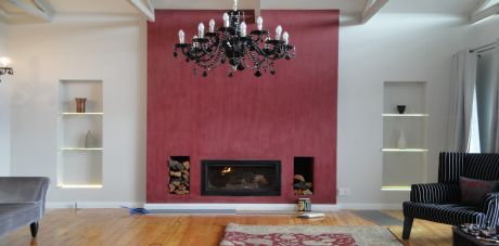 Prestige Construction - Fireplace wall