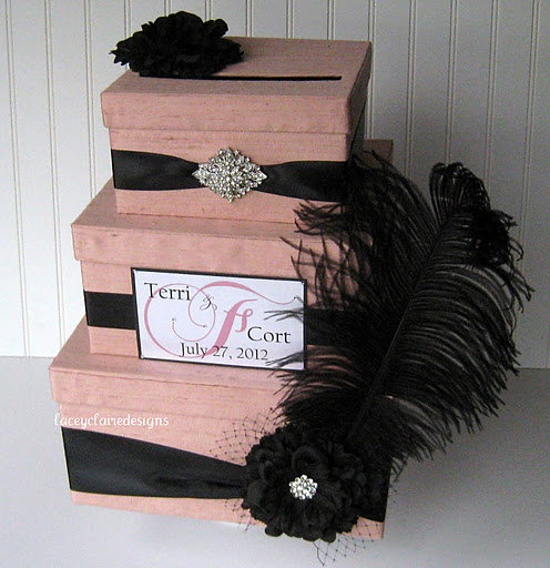 Couture Wedding Card Box With Bling And Elegance Laceyclairede