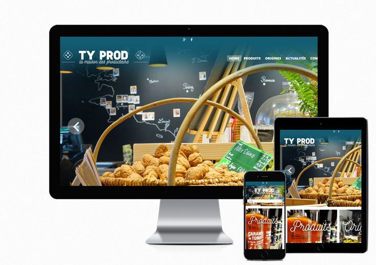 Création du site du Primeur - Epicerie fine Ty Prod à #PontAbbe http://www.air-media29.com/epicerie-pont-abbe.html
