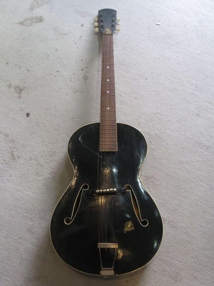 1000 images about guitar stuff vintage guitars alte 100cm schwarze gitarre framus aus den 50 60er j sammler dekostück lack def in