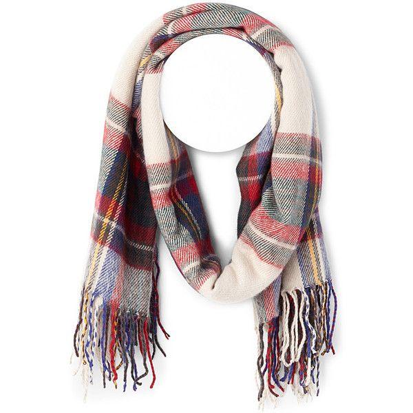 Tartan blanket scarf ($35) ❤ liked on Polyvore featuring accessories, scarves, plaid scarves, plaid blanket scarf, tartan shawl, tartan plaid shawl and plaid shawl