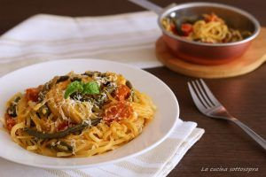 Linguine con fagiolini e ricotta salata