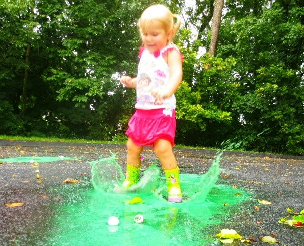 Monster puddle jumping- such fabulous rainy day fun!