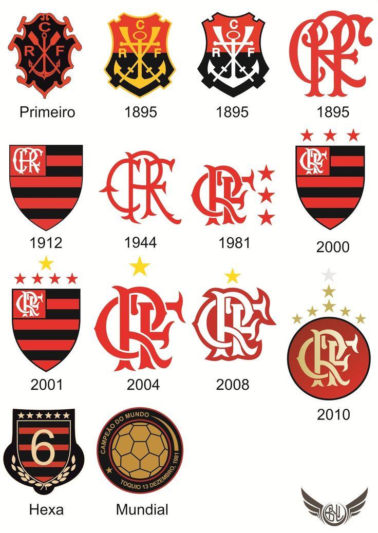 Todos Escudos do Clube de Regatas do Flamengo
