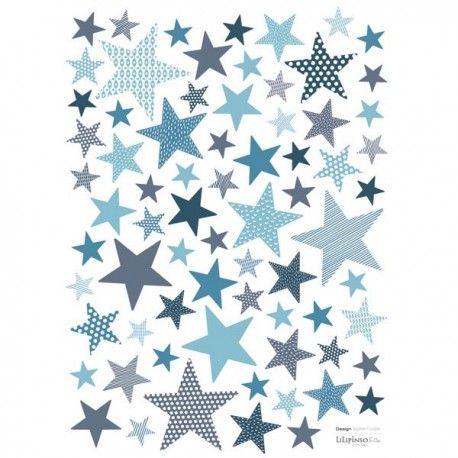 Stickers étoiles Stone Blue - Lilipinso