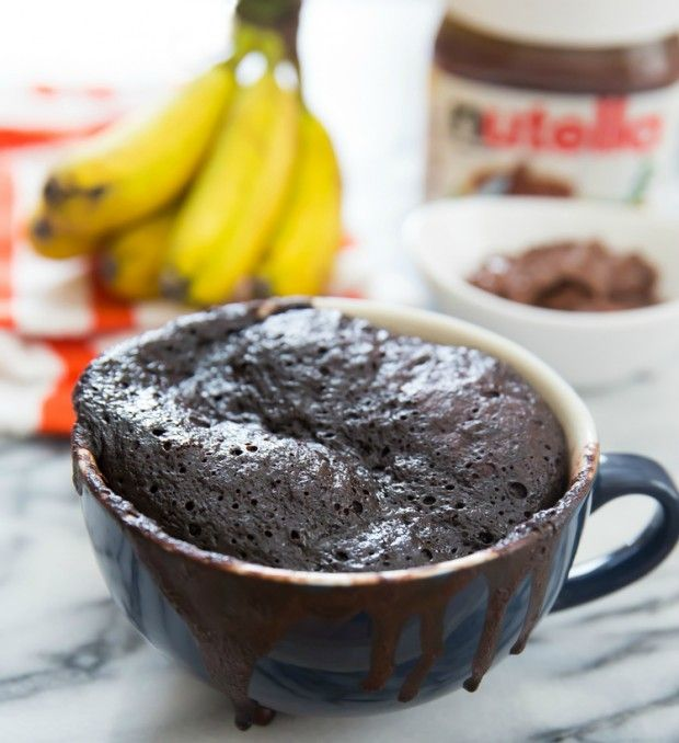 how to make nutella brownies in a mug