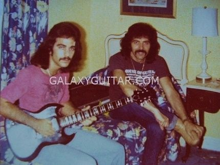 Randy Young & Black Sabbath Guitarist Tony Iommi 3 hours prior to Black Sabbath headlining at Madison Square Garden NYC. Never Say Die Tour.