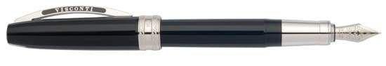 Visconti Michelangelo - Medium Point Fountain Pen - True Black
