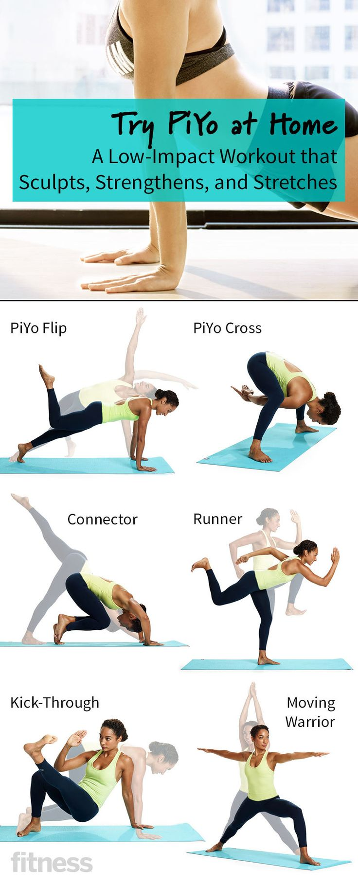 Try PiYo at Home: A Low-Impact Workout That Sculpts, Strengthens and Stretches | #fitness #pilates #yoga