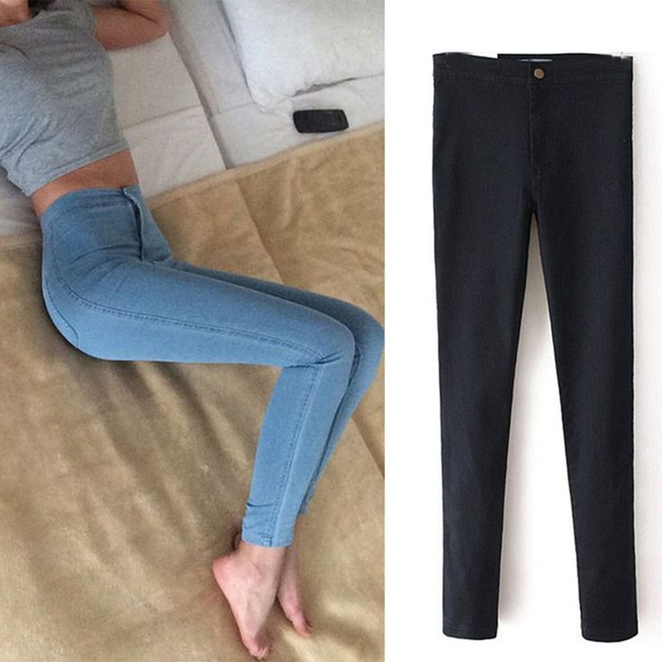 2017 Fashion high waist Women jeans Stretch Skinny jeans Female high quality slim Pencil pants black Denim Ladies pants C0455 >>> Ne zabud'te proverit' etot udivitel'nyy produkt.