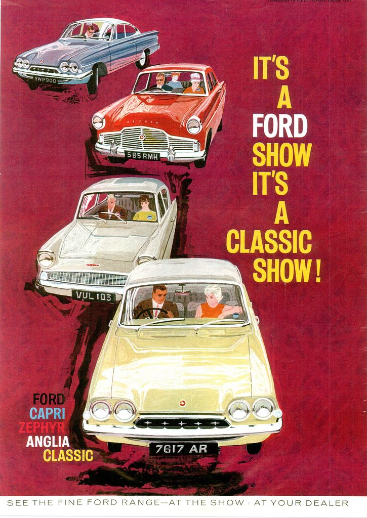1962 Ford magazine advertisement for the Earls Court Motor Show. Consul Classic Anglia Zephyr MkII and Capri  sc 1 st  Pinterest & 498 best Ford Consul Capri / Ford Consul Classic images on ... markmcfarlin.com