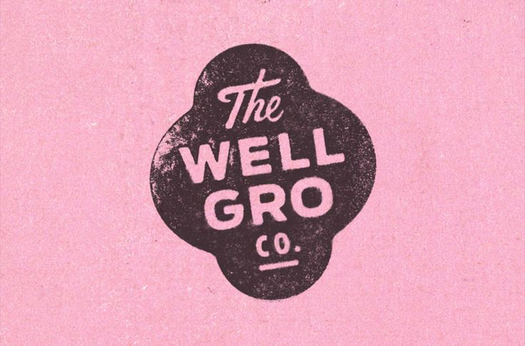 The Wellgro Co logo designed by Gold Lunch Box