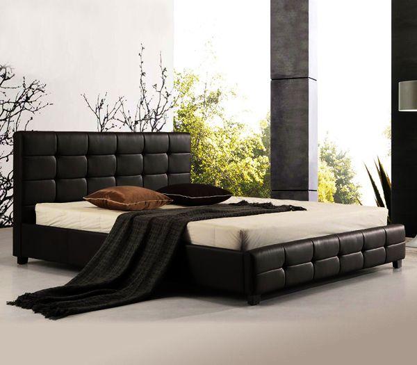 Κρεβάτι Διπλό Ξύλο/Δερματίνη EasyLife 8593