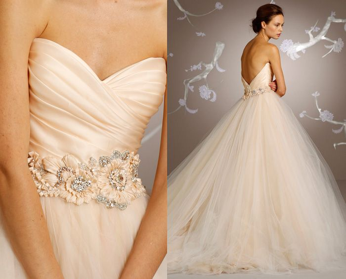 144 best lazaro wedding dresses images on pinterest for How much is a lazaro wedding dress