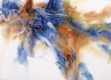 watercolor horses | ... Binfield Bridges the Gap - Summer 2007 Issue of Horses in Art Magazine