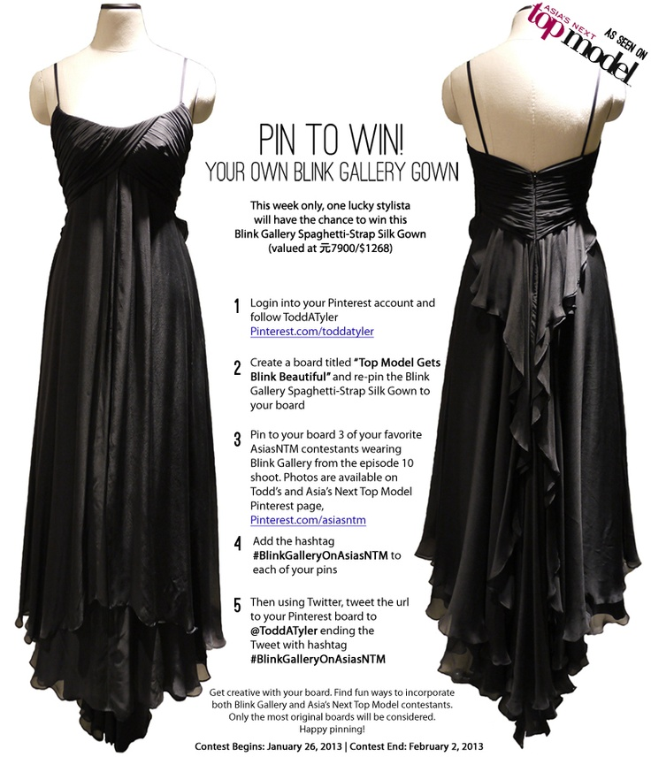 #PinToWin - #BlinkGallery, the world's leading emerging #fashion #designer consortium and lifestyle brand, and renowned fashion photographer #ToddAnthonyTyler have joined forces to offer you the chance to win a gorgeous gown as seen on episode 10 of #AsiasNextTopModel - #ep10 #AsiasNTM #giveaway #contest #PinterestContest #photosbyTAT #AsianBeauty #DesignerFashion #Giveaway #Contest #PinBoardContest -  get more details on how to enter here: http://www.toddanthonytyler.com/blog/?p=392