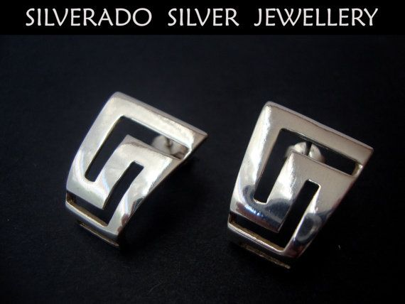 Ancient Greek Meandros Key Traditional Earrings Sterling Silver 925 on Etsy, 29,00€