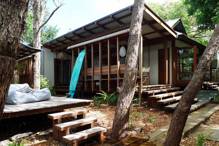 2014 AIA Regional Commendation for Residential Architecture Houses (Alterations and Additions) The project is an extension to an existing beach shack built by artist David Nutter, and designed with his architect father Danny Nutter. Our clients responded to the idea that a beach shack should not replicate experiences found in Brisbane, but celebrate the place …