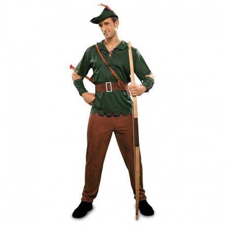 Disfraces Disney hombre | Disfraz de Robin Hood. Contiene pantalón, casaca, 2 muñequeras, cinturón y gorro.Talla M/L. 18,95€ #robin #hood #robinhood #disfraz #disney #disfraces #disfrazdisney