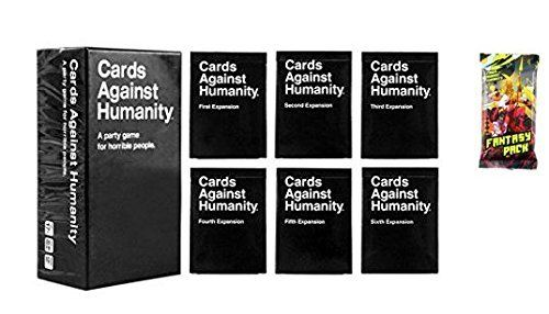 Cards - Main Game Against Humanity  Expansions 1 2 3 4 5 6 with Fantasy Pack Expansion