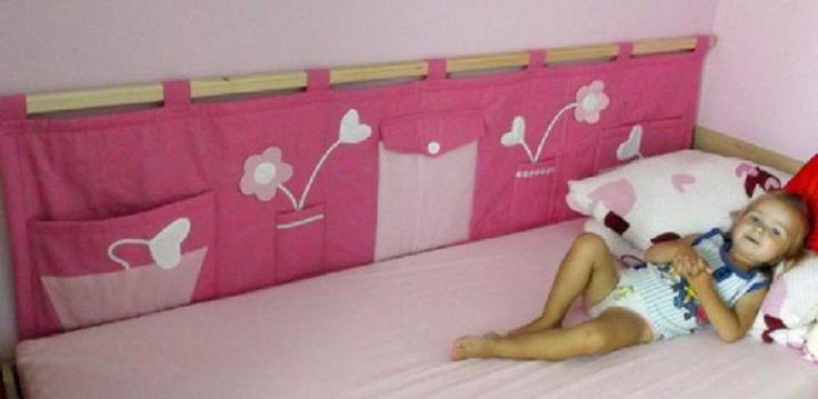 """Kapsář za postel """"Kytičkové srdíčko"""" Další super kapsářek z mojí dílničky. 2 m x 50 cm"""