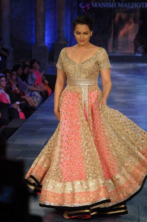 Sonakshi Sinha in Manish Malhotra on IndianWeddingSite.com