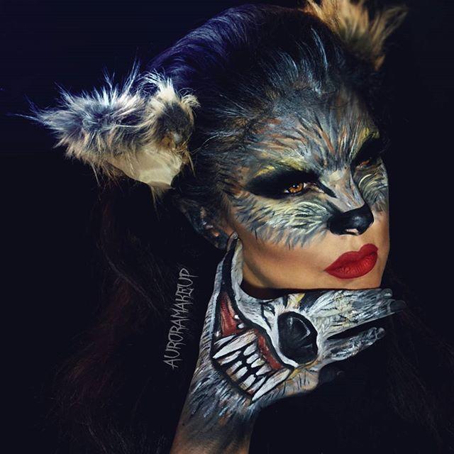 Check  this WEREWOLF MAKEUP  tutorial for #halloween  on my YOUTUBE CHANNEL,  Link on my bio page SUBSCRIBE ✔️ #auroramakeup #selfie  Amores este video tutorial  de MUJER LOBO  ya esta en YouTube,  la liga esta en mi página de perfil aquí en instagram ✔️ SUSCRIBETE