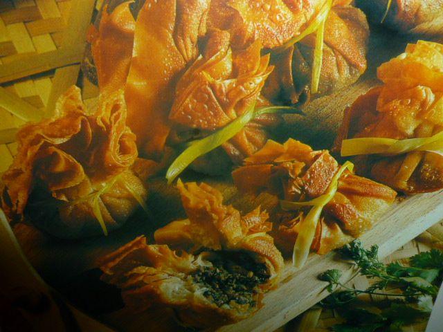 ricette pasta fillo - con funghi e coriandolo