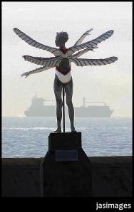 The beautiful statue Sea Point